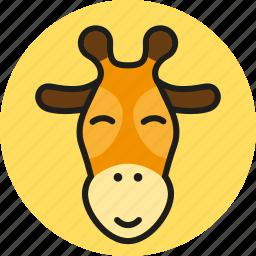 animal, cute, giraffe, logo, media, wild, zoo icon