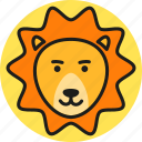 animal, cute, lion, logo, nature, wild, zoo icon