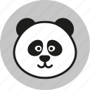 animal, cute, forest, logo, panda, wild, zoo icon
