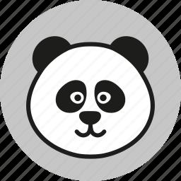 animal, cute, forest, logo, panda, wild, zoo icon