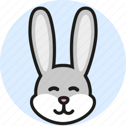 animal, cute, logo, media, rabbit, wild, zoo icon