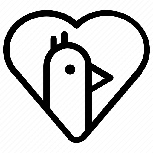 chicken, favorite, heart icon