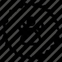 animal, badge, paw, paw print, pawprint, sticker icon