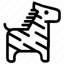 animal, zebra icon
