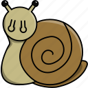 animal, cute, domestic, nature, snail icon