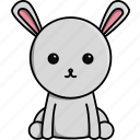 animal, cute, domestic, farm, nature, rabbit icon