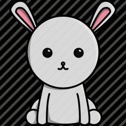 animal, cute, domestic, farm, nature, rabbit icon