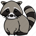 animal, cute, jungle, nature, raccon, zoo icon