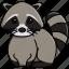 animal, cute, jungle, nature, raccon, zoo icon