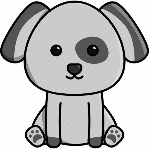 animal, cute, dog, domestic, house, nature icon