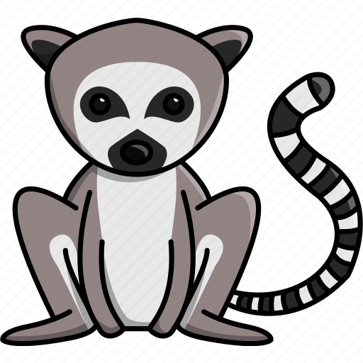 africa, animal, cute, jungle, lemur, nature, zoo icon