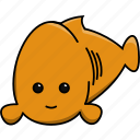 animal, aquarium, cute, domestic, fish, gold fish, sea icon