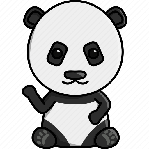 animal, cute, jungle, nature, panda, zoo icon