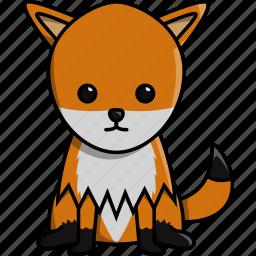 animal, cute, fox, jungle, nature, zoo icon