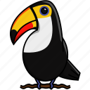 animal, bird, cute, jungle, nature, toucan icon