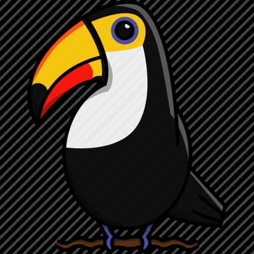 animal, bird, cute, jungle, nature, toucan icon