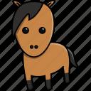 animal, cute, domestic, farm, horse, nature