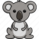 animal, australia, cute, jungle, koala, nature, zoo icon