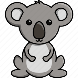 animal, australia, cute, jungle, koala, nature, zoo icon