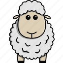 animal, cute, farm, jungle, nature, sheep icon