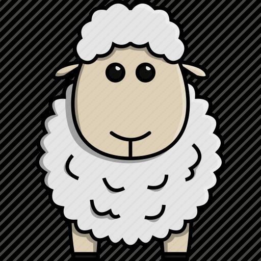 animal, cute, farm, jungle, nature, sheep icon