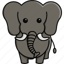 africa, animal, cute, elephant, jungle, nature, zoo icon