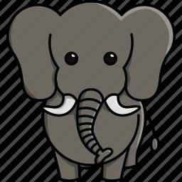 africa, animal, cute, elephant, jungle, nature, zoo icon