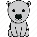 animal, antartica, bear, cute, nature, polar, zoo icon