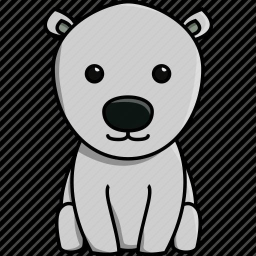 animal, antartica, bear, cute, nature, polar, zoo icon