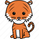animal, cute, jungle, nature, tiger, zoo icon