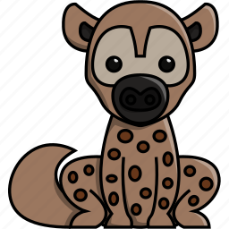 africa, animal, cute, hyena, jungle, nature, zoo icon