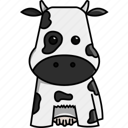 animal, cow, cute, farm, milk, nature icon