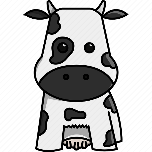animal, cow, cute, farm, milk, nature icon