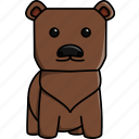 animal, bear, cute, jungle, nature, zoo icon