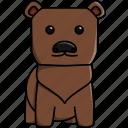 animal, bear, cute, jungle, nature, zoo