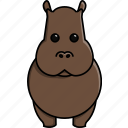 africa, animal, cute, hippo, hippopotamus, nature, zoo icon