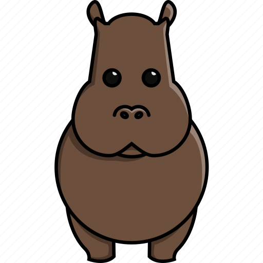 africa, animal, cute, hippo, hippopotamus, nature, zoo icon
