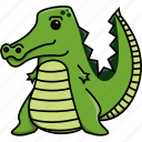 africa, animal, crocodile, cute, jungle, nature, zoo icon