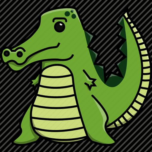 africa, animal, crocodile, cute, jungle, nature, zoo icon