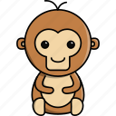 africa, animal, cute, monkey, nature, zoo icon