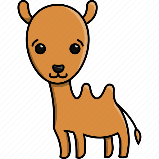 animal, camel, cute, jungle, nature, zoo icon