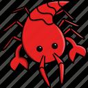 animal, aquarium, cute, fish, lobster, locust, sea icon