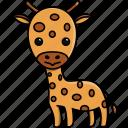 africa, animal, cute, giraffe, jungle, nature, zoo icon