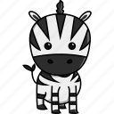 africa, animal, cute, jungle, nature, zebra, zoo icon