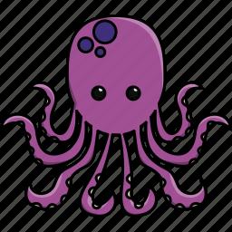 animal, aquarium, cute, fish, nature, octopus, sea icon