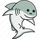 animal, aquarium, cute, fish, nature, sea, shark icon