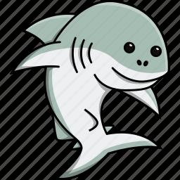 animal, aquarium, cute, fish, nature, sea, shark icon