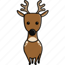 animal, cute, deer, jungle, nature, reindeer, zoo icon