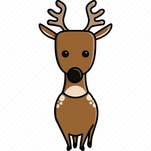 animal, cute, deer, jungle, nature, reindeer, zoo icon