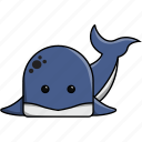 animal, aquarium, cute, fish, orca, sea, whale icon